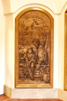 Little Carpenter Wood Carved Panel for Holy Family Education Center