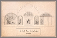 Design for Holy Family Education Center Custom Wood Carving Project