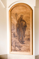 Good Shepherd Wood Carved Panel for Holy Family Education Center